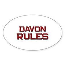 davon rules Oval Decal