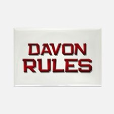 davon rules Rectangle Magnet