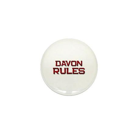 davon rules Mini Button (10 pack)