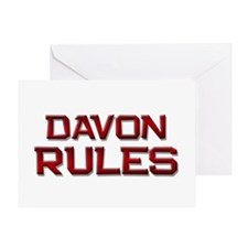 davon rules Greeting Card