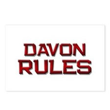 davon rules Postcards (Package of 8)