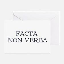 """""""Facta, Non Verba!"""" Greeting Cards (Pk of 20)"""
