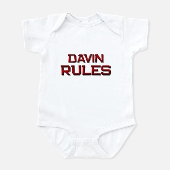 davin rules Infant Bodysuit