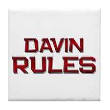 davin rules Tile Coaster