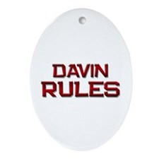 davin rules Oval Ornament