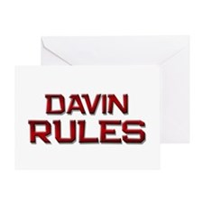 davin rules Greeting Card