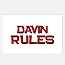 davin rules Postcards (Package of 8)