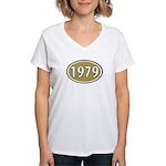 1979 Oval Women's V-Neck T-Shirt