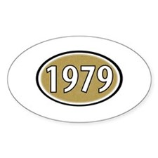 1979 Oval Oval Decal