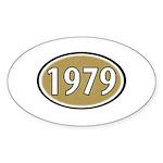 1979 Oval Oval Sticker (10 pk)
