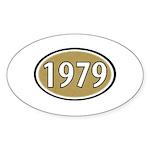 1979 Oval Oval Sticker (50 pk)
