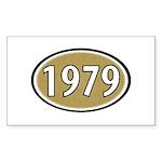 1979 Oval Rectangle Sticker 10 pk)