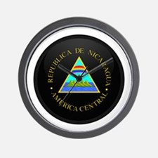 Coat of Arms of Nicaragua Wall Clock