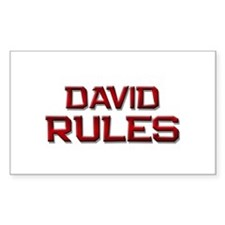 david rules Rectangle Decal