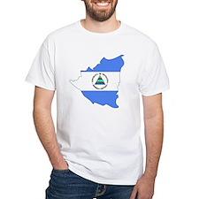 Nicaragua Flag Map Shirt