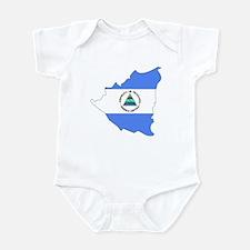 Nicaragua Flag Map Infant Bodysuit