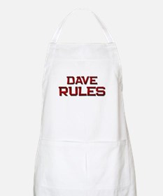 dave rules BBQ Apron