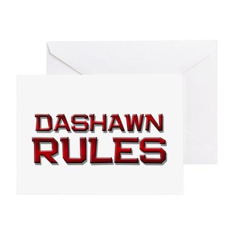 dashawn rules Greeting Card