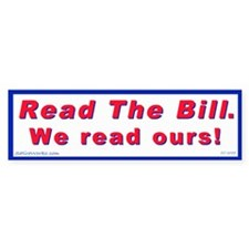 Read The Bill (Bumper Sticker)