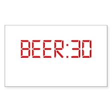 BEER 30 Irish Thirty Rectangle Sticker 50 pk)