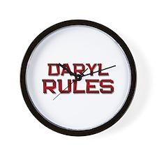daryl rules Wall Clock