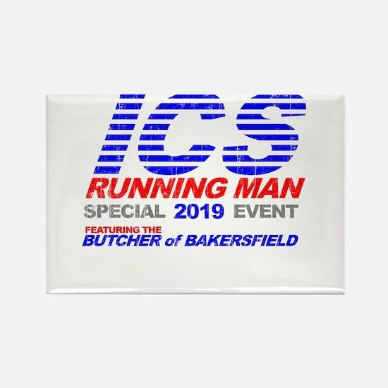 ICS Running Man Retro Rectangle Magnet