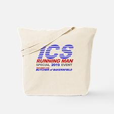 ICS Running Man Retro Tote Bag