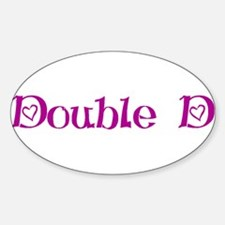 Double D's Oval Decal