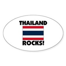 Thailand Rocks Oval Decal