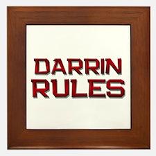 darrin rules Framed Tile