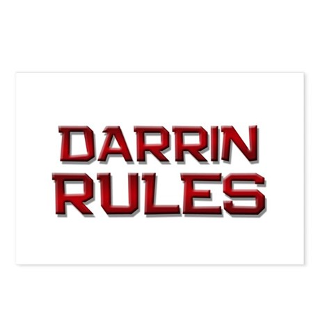 darrin rules Postcards (Package of 8)