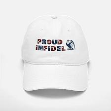 Proud Infidel w/Blue Eagle Baseball Baseball Cap