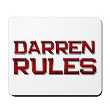 darren rules Mousepad
