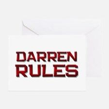 darren rules Greeting Card