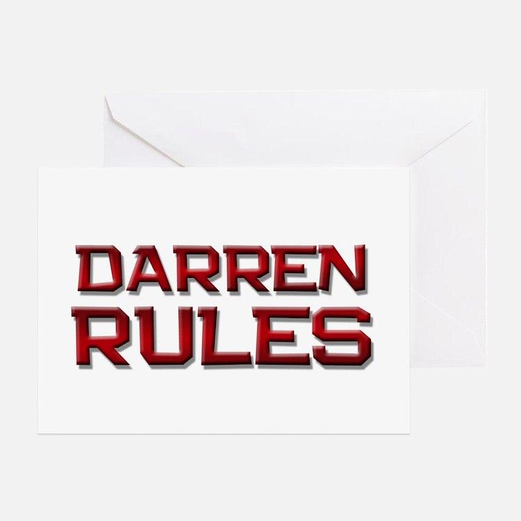 darren rules Greeting Card
