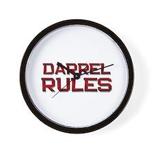 darrel rules Wall Clock