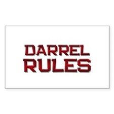 darrel rules Rectangle Decal
