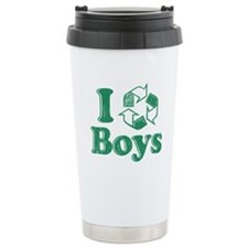 I Recycle Boys Humor Travel Mug