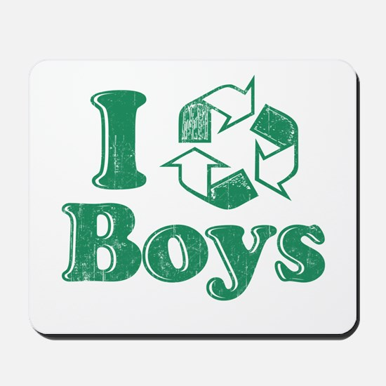 I Recycle Boys Humor Mousepad