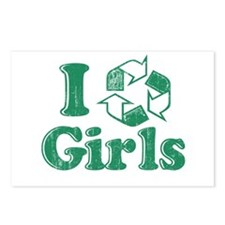 I Recycle Girls Humor Postcards (Package of 8)