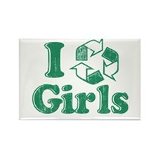 I Recycle Girls Humor Rectangle Magnet