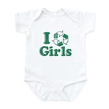 I Recycle Girls Humor Infant Bodysuit