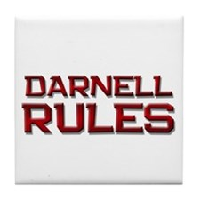 darnell rules Tile Coaster