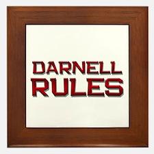 darnell rules Framed Tile