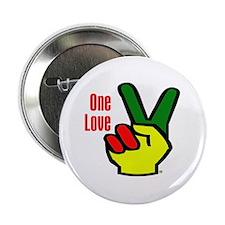 """Peace Rasta 2.25"""" Button"""