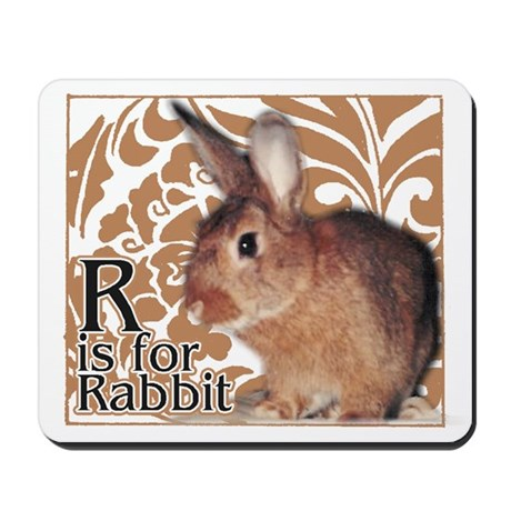 R is for Rabbit - Mousepad