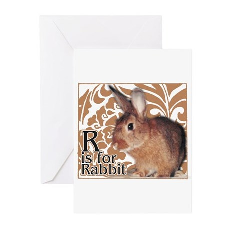 R is for Rabbit - Greeting Cards (Pk of 10)