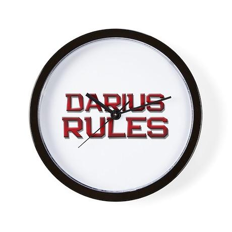 darius rules Wall Clock