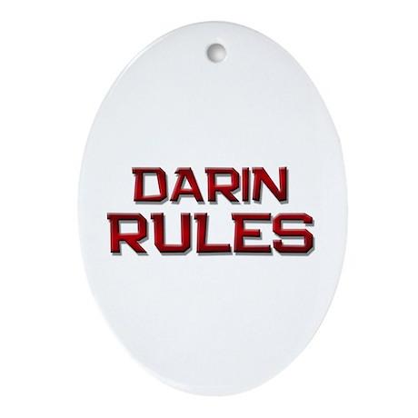 darin rules Oval Ornament