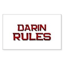 darin rules Rectangle Decal